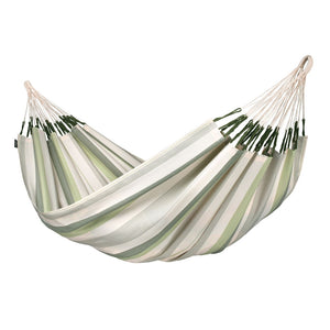 Double hammock Brisa Cedar green grey and white