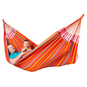 La Siesta Double Hammock orange