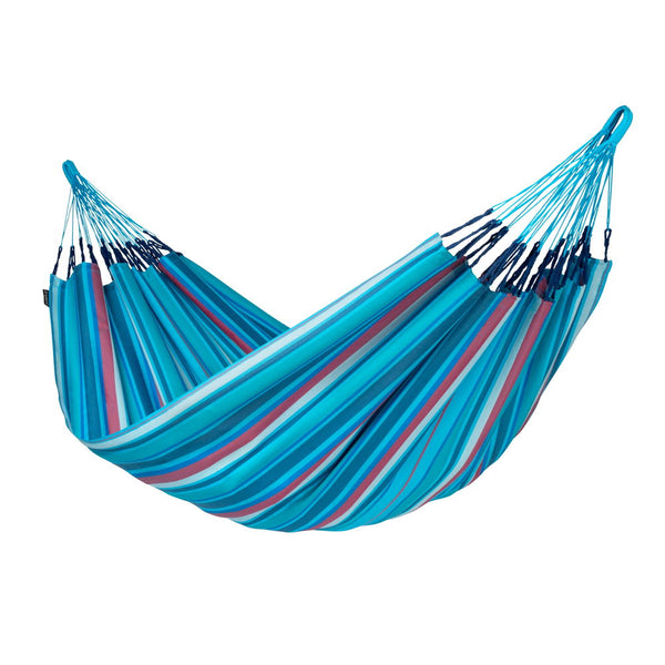 Double Hammock Brisa Wave Blue and Purple