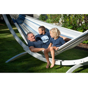 La Siesta Kingsize Classic Hammock light blue and white