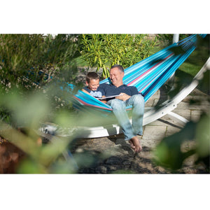 La Siesta Double Hammock blue and purple