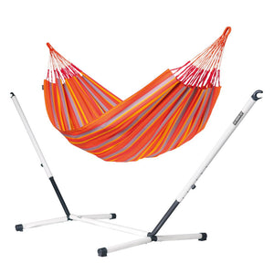 Kingsize Classic Hammock orange with Nautico powder coated steel stand