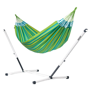 Kingsize Classic Hammock green with Nautico powder coated steel stand