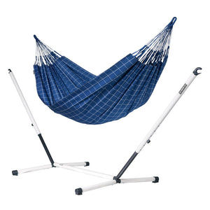 Kingsize Classic Hammock blue with Nautico powder coated steel stand