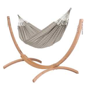 Kingsize Classic Hammock Almond with Canoa wood stand