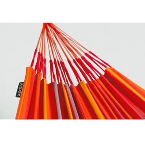 La Siesta Double Hammock orange detail