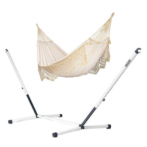 Kingsize Classic Hammock Champagne with Nautico powder coated steel stand