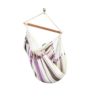 Hammock Chair Caribena Purple and White