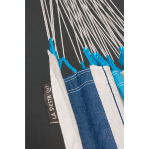 La Siesta Single Classic Hammock Blue detail