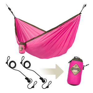 Single Travel Hammock Colibri Fuchsia