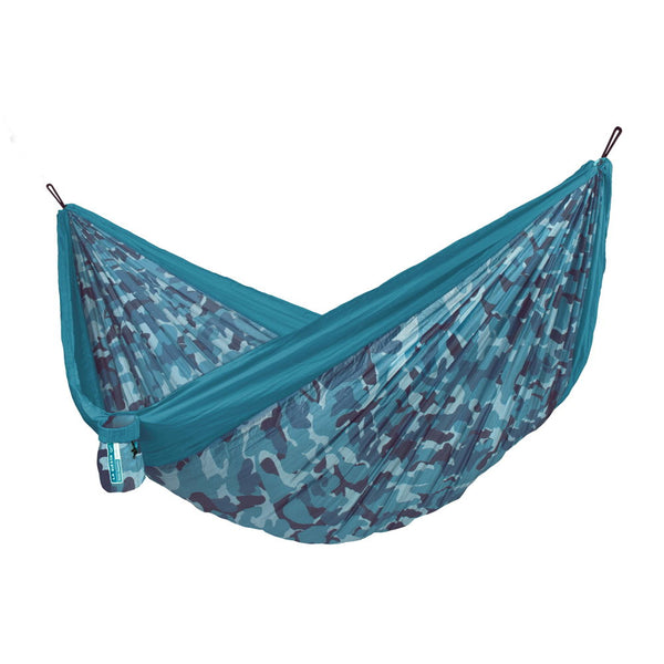 Double Travel Hammock Colibri 3.0 Camo River Blue