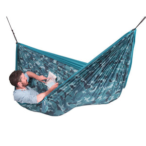 La Siesta Double Travel Hammock blue