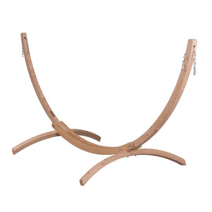 Canoa Stand for single hammock caramel wood
