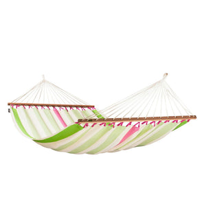 Double Spreader Bar Hammock Colada Kiwi light green and white