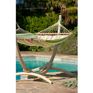 La Siesta Double Spreader bar Hammock light green and white