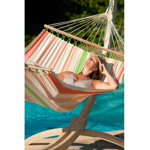 La Siesta Double Spreader bar Hammock orange and white