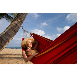 La Siesta Double Hammock red