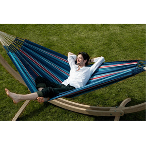 La Siesta Double Hammock blue and red