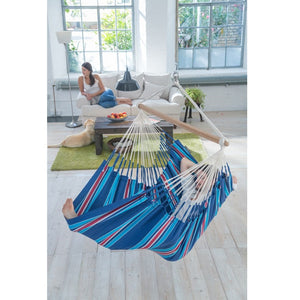 La Siesta Lounger Hammock Chair blue and red