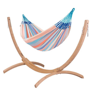 Kingsize Classic Hammock dolphin with Canoa wood stand