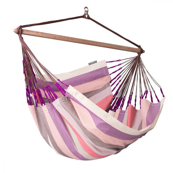 Lounger Hammock Chair Domingo Plum Purple and Pink