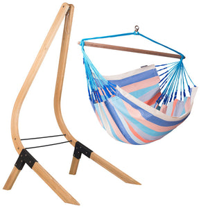 Lounger Hammock Chair Dolphin with Vela wood stand