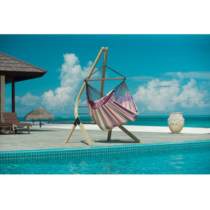La Siesta Lounger Hammock Chair purple and pink