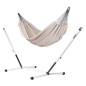 Kingsize Classic Hammock zebra with Nautico powder coated steel stand