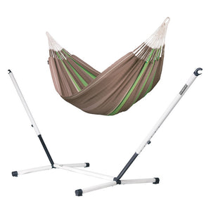 Kingsize Classic Hammock brown with Nautico powder coated steel stand