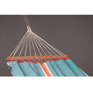 La Siesta Single Spreader Bar Hammock light blue detail