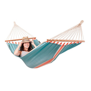 La Siesta Single Spreader Bar Hammock light blue