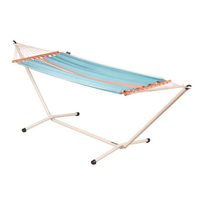 Single Spreader Bar Hammock light blue with Mediterraneo powder coated steel stand crème