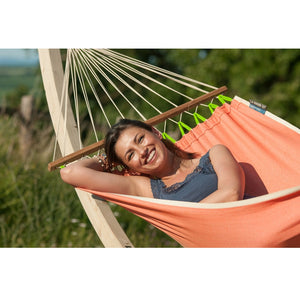 La Siesta Single Spreader Bar Hammock orange