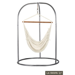 Hammock Chair white with powder coated steel stand
