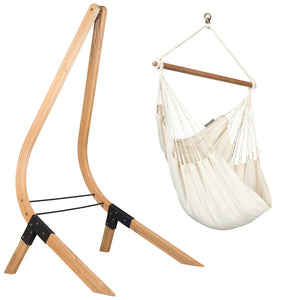 Hammock Chair white with wood stand