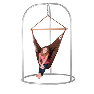 Hammock Chair brown with powder coated steel stand