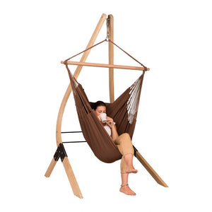 Hammock Chair brown with wood stand