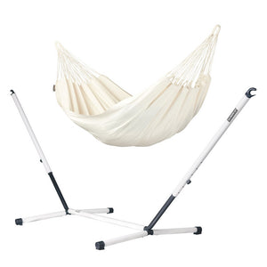 Single Classic Hammock white with Nautico powder coated steel stand