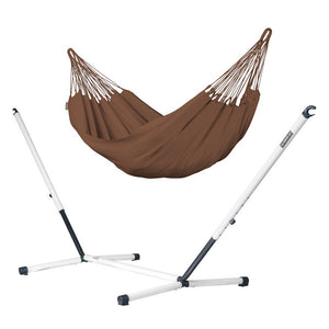 Single Classic Hammock brown with Nautico powder coated steel stand