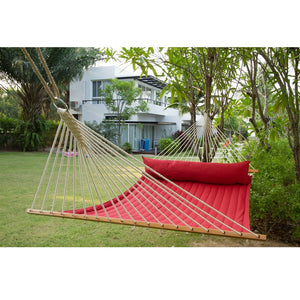 La Siesta Kingsize Spreader Bar Hammock red detail