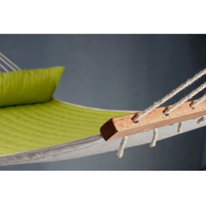 La Siesta Kingsize Spreader Bar Hammock green detail