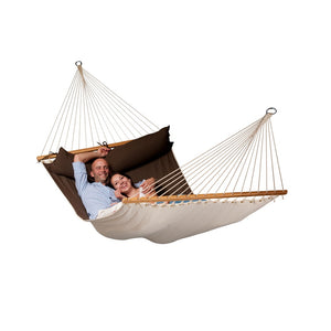 La Siesta Kingsize Spreader Bar Hammock brown