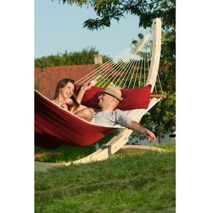 La Siesta Kingsize Spreader Bar Hammock red