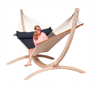La Siesta Kingsize Spreader Bar Hammock blue