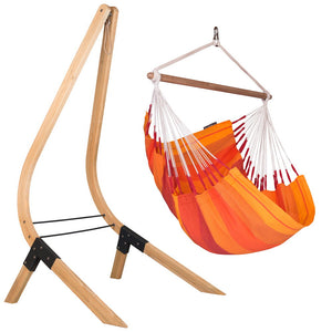 Hammock Chair orange with wood stand