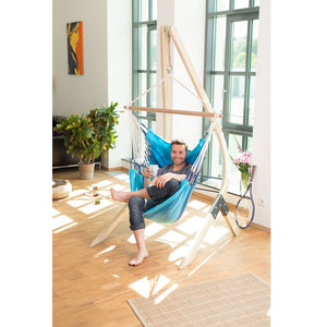 La Siesta Vela Stand wood caramel for hammock chair