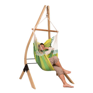 Hammock Chair green with wood stand