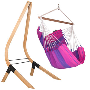 Hammock Chair purple with wood stand