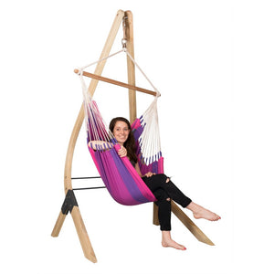 Hammock Chair purple wood stand