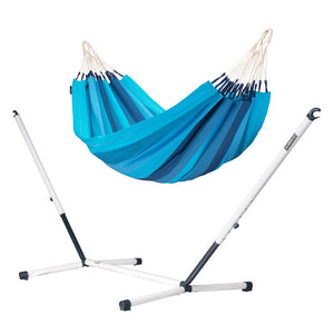 Single Classic Hammock blue with Nautico powder coated steel stand